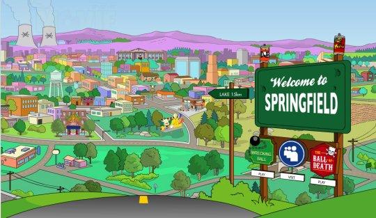 La serie de Los Simpsons