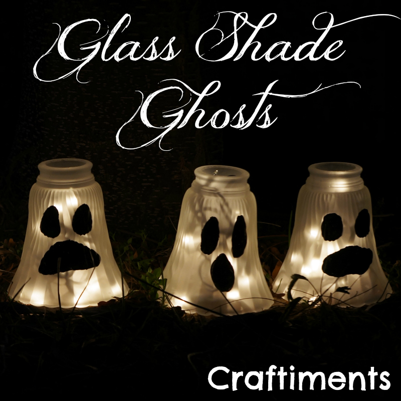 glass shade ghosts halloween yard decorations