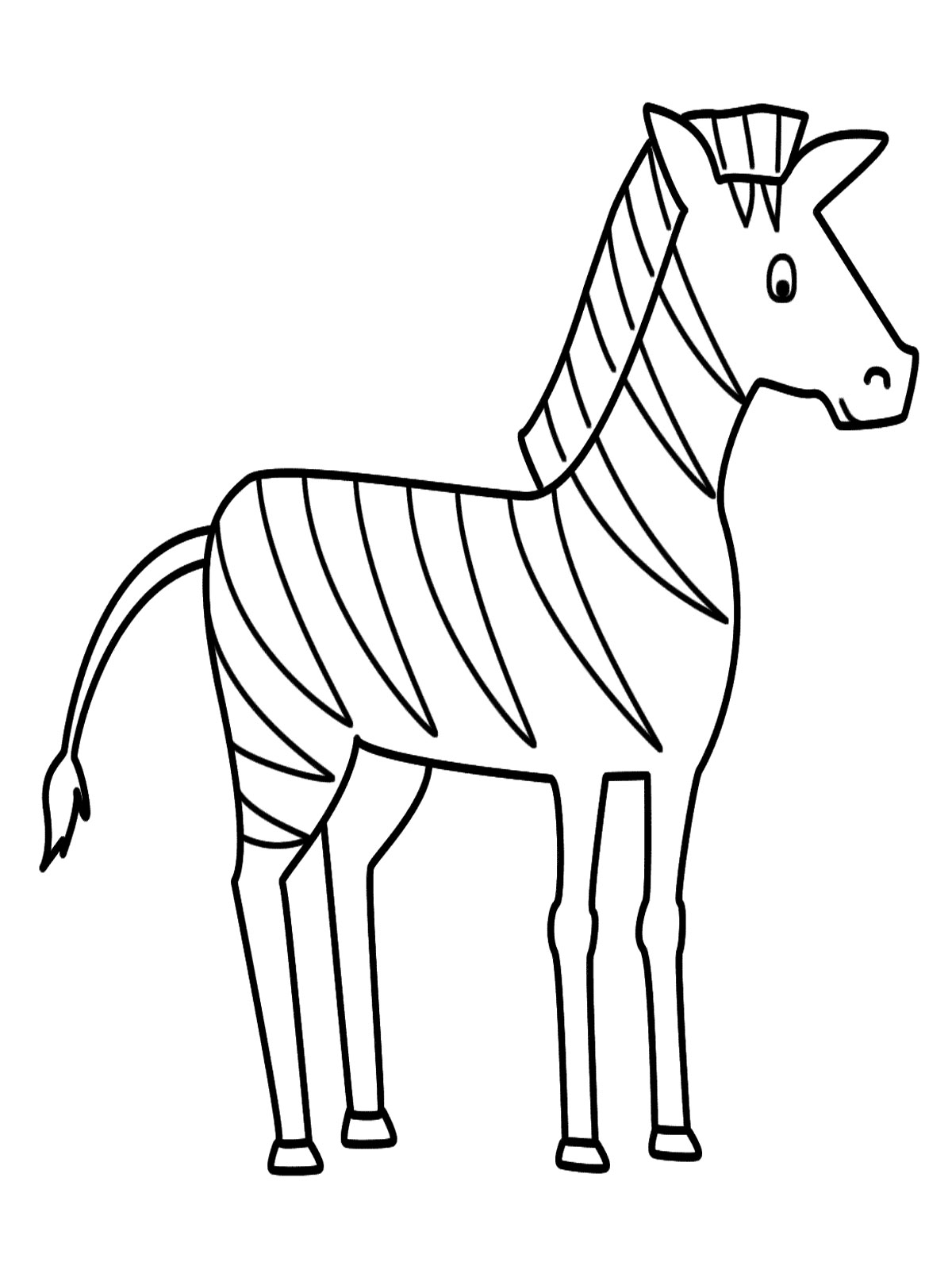 zebra family coloring pages - photo #18
