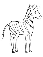 Zebra coloring pages for kids printable