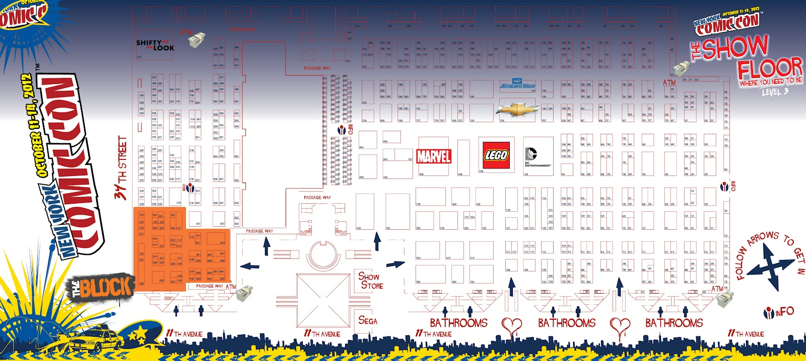 Curls Studio New York Comic Con  Artist Alley Table W - Nyc map javits center