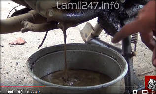 drain greasy oil from bike after submerged in chennai floods two wheeler mechanic advice tips in tamil