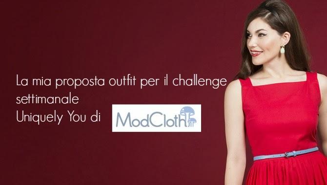modcloth uniquely you challenge con abito rosso