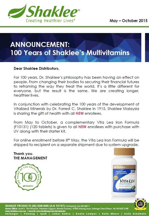 free vitamin, free vitalea, vitamin 100 tahun