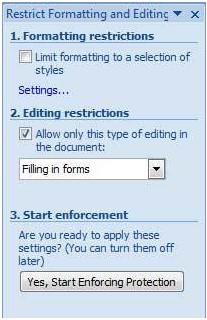 cara mengunci dokumen word 2007