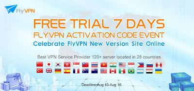 FlyVPN Free Trial 7 Days Activation Code