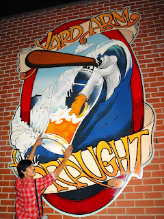 Traditional Signwriters Australia dobell signs hand painted yard arm draught aeden howlett Sydney New South Wales