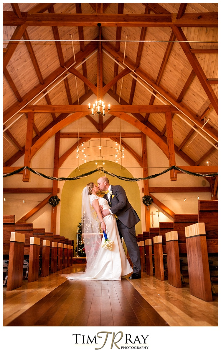 The Ceremony Was At St Bernard Chapel And Reception Mountain Lodge It Unseasonably Warm For A January Wedding With Temps In 40s