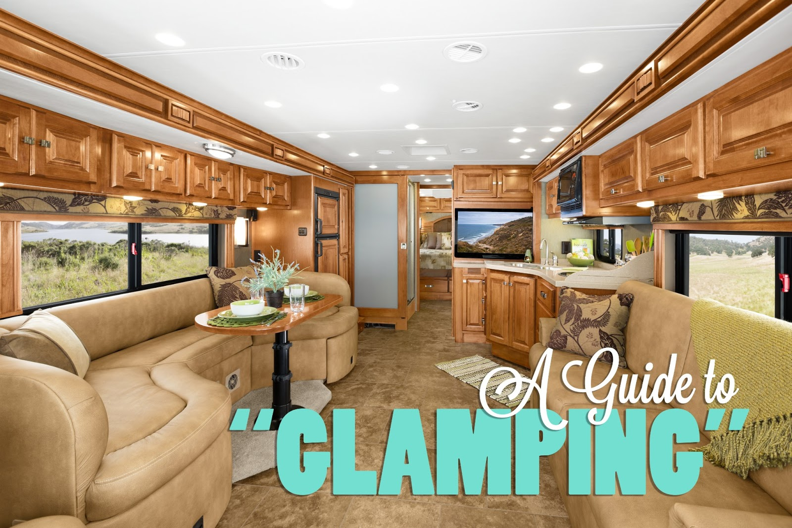 Nd level glamping intermediate fifth wheels