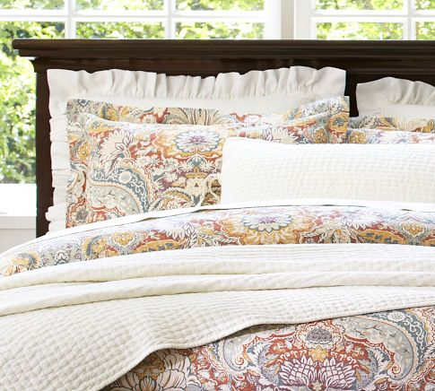 Ideal Is it paisley Is it damask Do I care Celeste Damask Duvet Cover from Pottery Barn