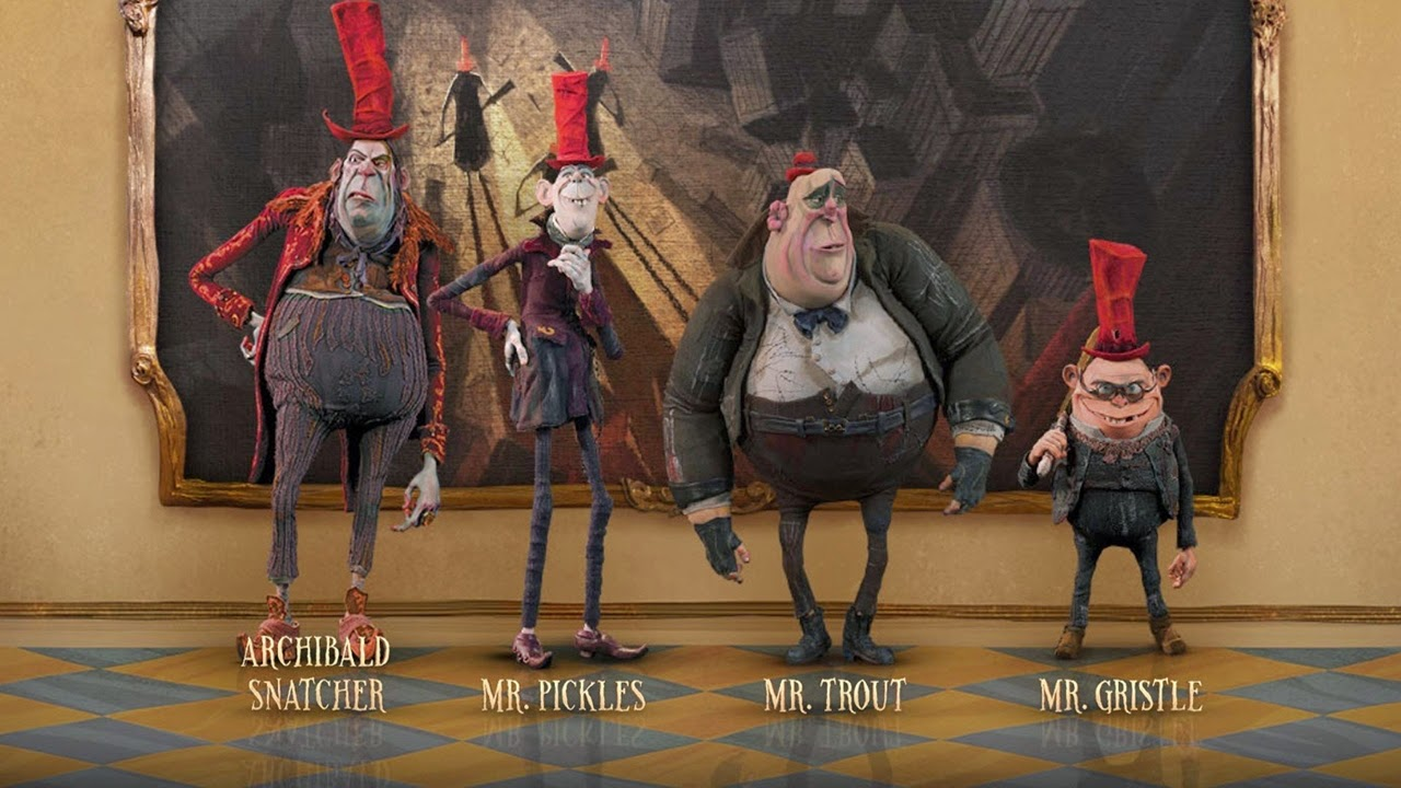 the boxtrolls-ben kingsley-archibald snatcher-mr pickles-richard ayoade-mr trout-nick frost-mr gristle-tracy morgan