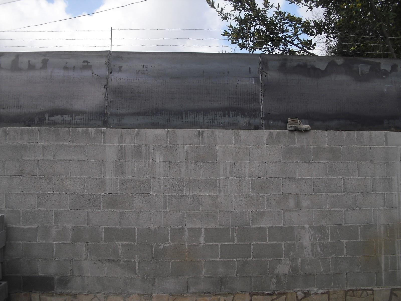 Muro perimetral acabado