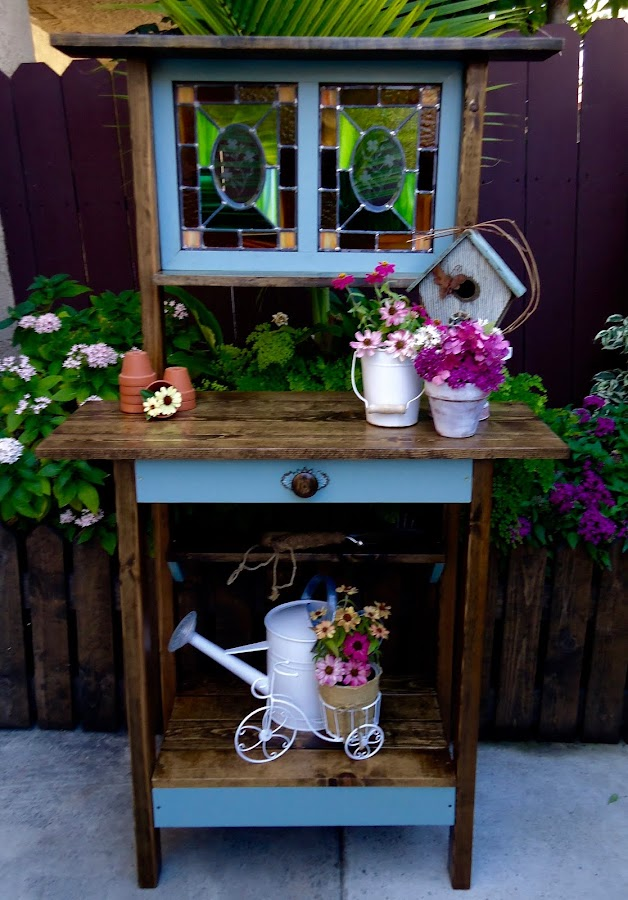 Stain Glass Potting Table - Available $225