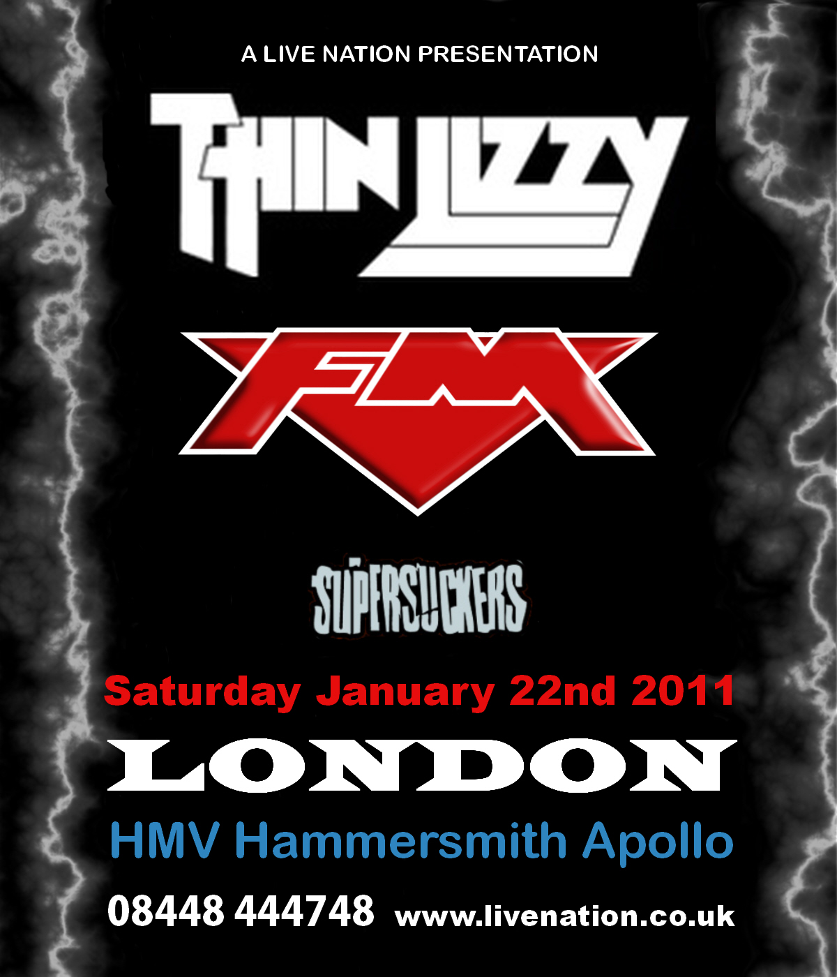 Thin Lizzy / FM / Supersuckers - 22 Jan 2011 - Hammersmith Apollo