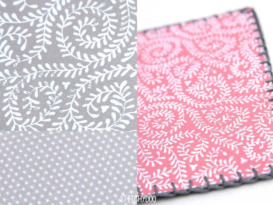 stitchydoo: Stoffkartentausch | Winterliche Grüße im Dezember - Papierrückseiten