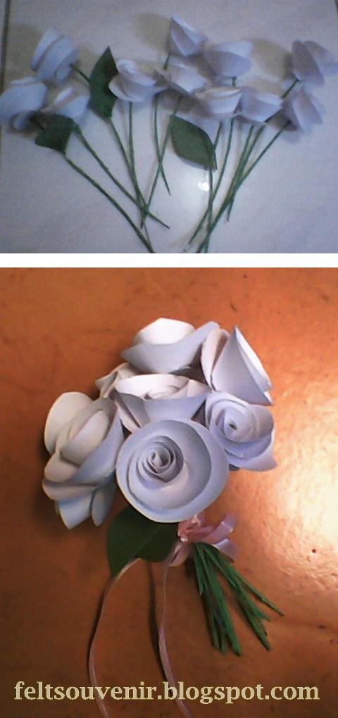 Cara Cara Membuat Bunga Telur Menggunakan Kertas Crepe