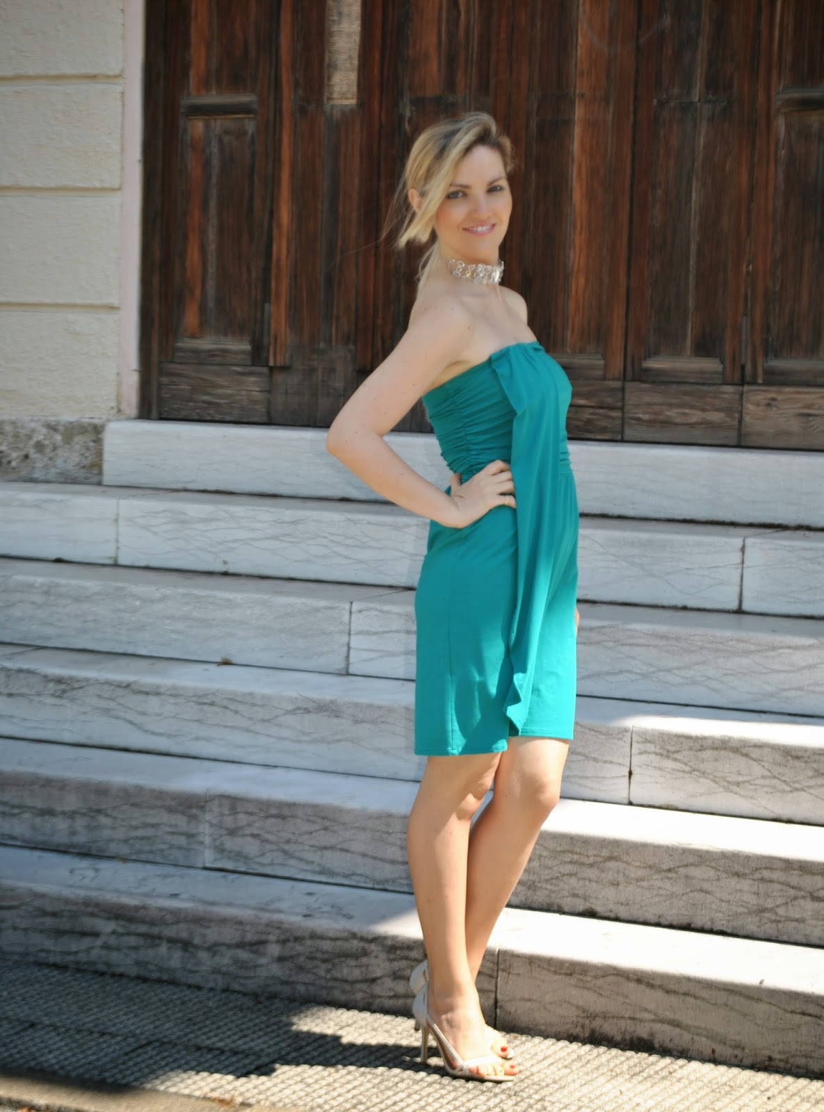 Célèbre Color-Block By FelyM.: OUTFIT: GREEN ELEGANT SUMMER DRESS / COME  DX76