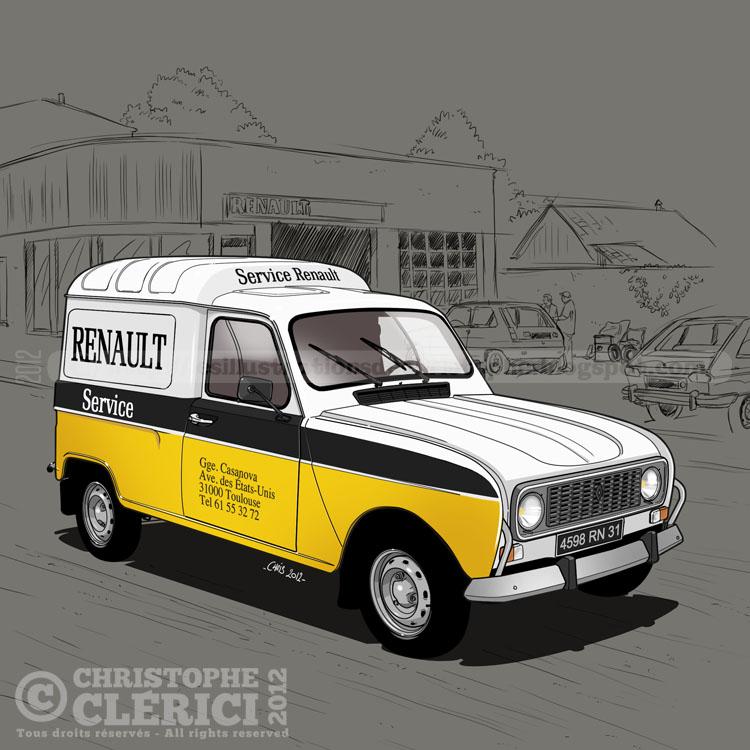 "Renault 4 fourgonnette ""Service Renault"" grosse avancé!  Renault-4L-F4-service-assistance"