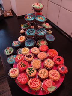 Cupcakes i alle farver til konkurrence