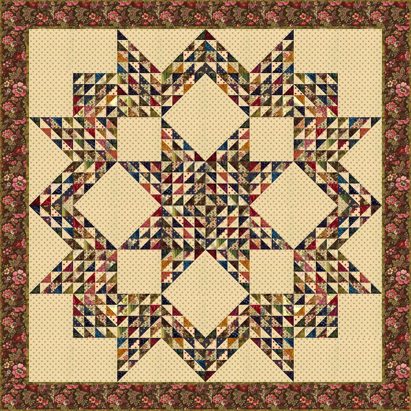 Quilt Designs With Triangles : Moda... the Cutting Table: Afraid of Applique? Edyta Sitar Offers a Solution