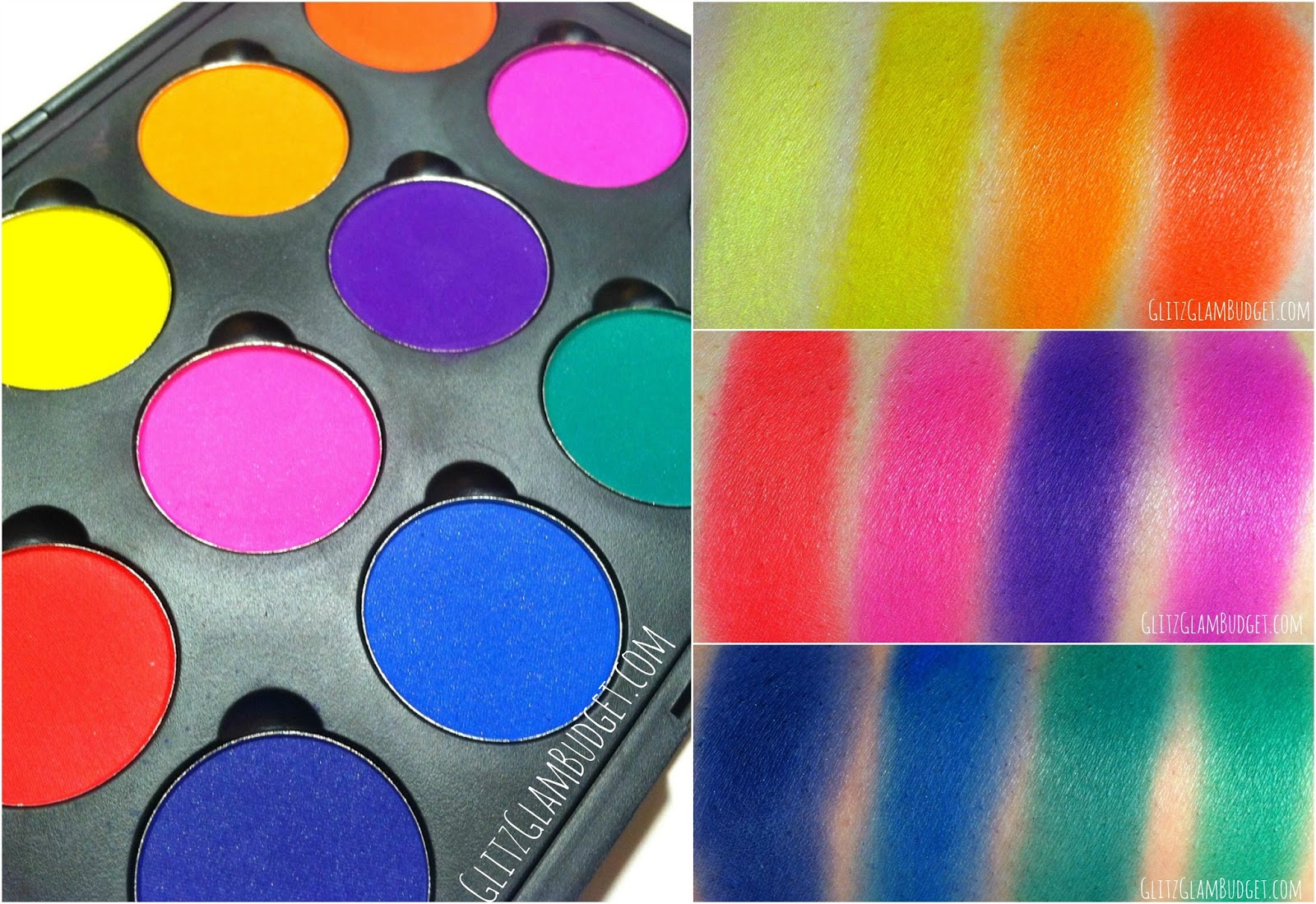 Coastal Scents Creative Me 1 Palette Swatches & Review