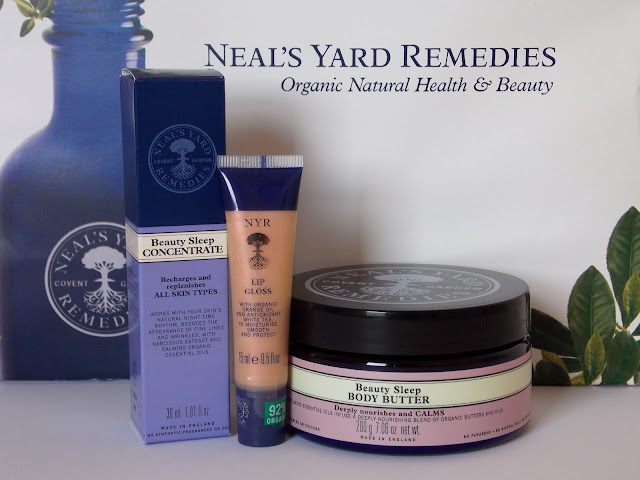 Neal's Yard Remedies, Beauty Sleep Concentrate, Beauty Sleep Body Butter, Lip Gloss