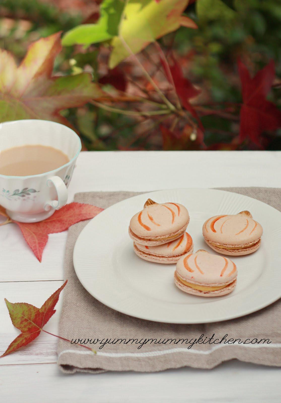 Pumpkin French Macarons | Yummy Mummy Kitchen | A Vibrant Vegetarian ...