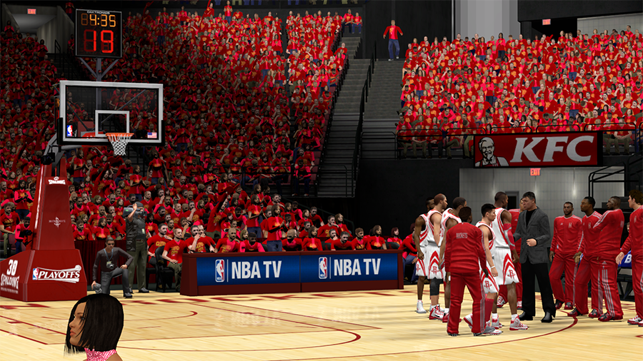 NBA 2K14 Houston Rockets Playoffs Crowd Patch