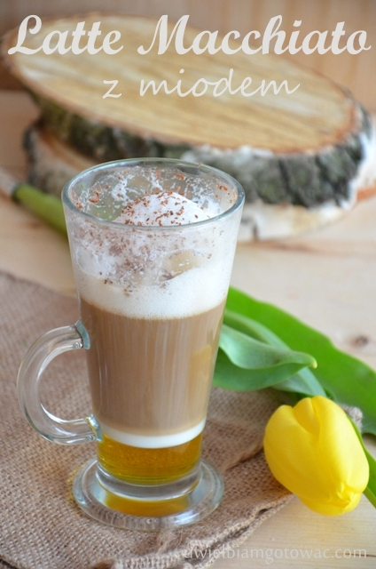 Kawa Latte Macchiato z miodem