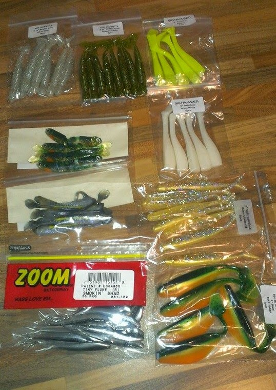 soft rubber perch lures