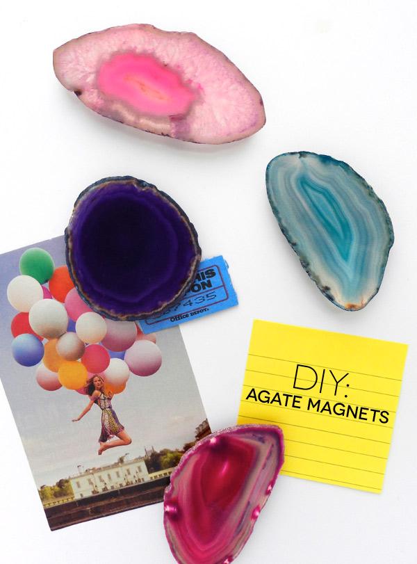 Diy: Agate Slice Magnets | Sas+Rose