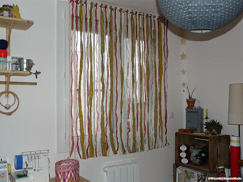 Recyclage d'anciens tissus en rideaux