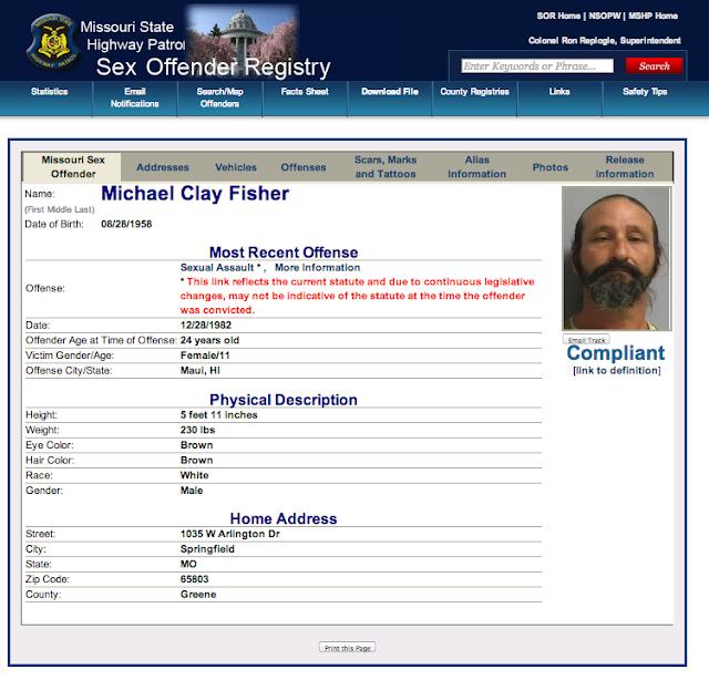 Missouri Highway Patrol Sex Offender