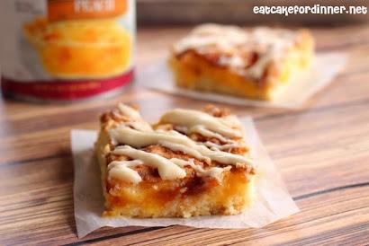 Peach Pie Sheet Cake Bars