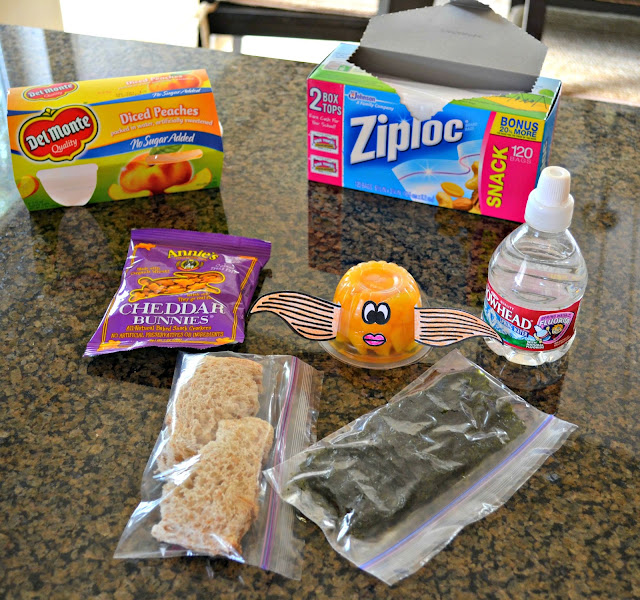healthy disposable kid's lunch, Del Monte Fruit cup, back to school, field trip lunch