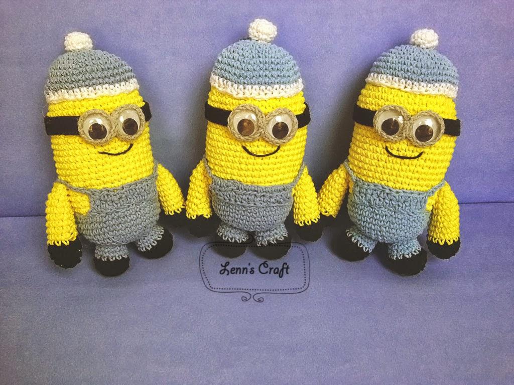 Minion Dave Amigurumi : Lenns Craft ? Handmade doll? Amigurumi ? : Minion crochet ...