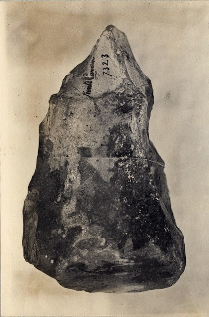Photographs of nodule tools (breccia) from Kent's Cavern, Torquay. Photographs taken by A.R. Hunt. Photographs are from the British Association for the Advancement of Science photograph collection.
