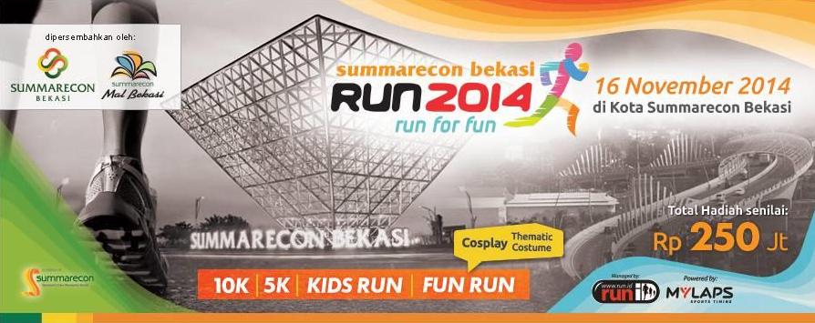 Kuis Berhadiah 12 Tiket Summarecon Bekasi Run GRATIS!