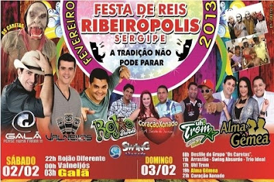 Festa de Reis agita final de semana em Ribeirópolis.