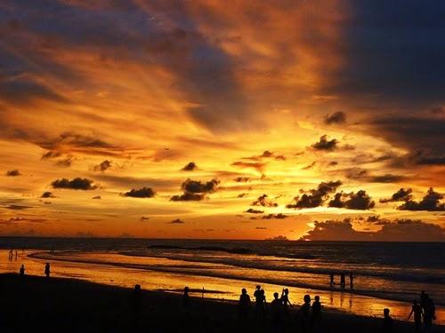 matahari terbenam バリの夕日