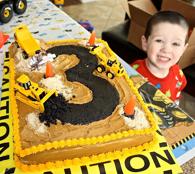 Bulldozer Sheet Cakes