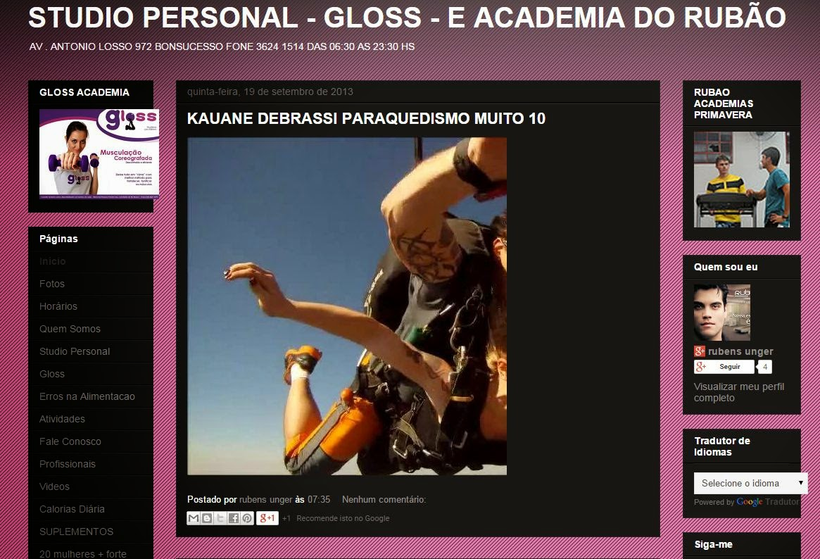 PERSONAL, ACADEMIA DO RUBÃO E GLOSS