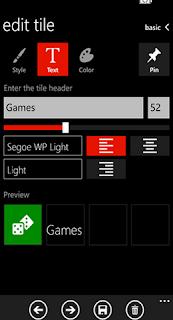 app group tiles windows phone