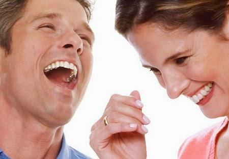 People laughing because of jokes