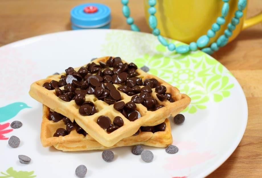 Gofres con chocolate - El dulce mundo de Nerea