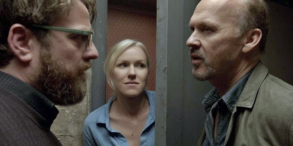 Zach Galifianakis, Naomi Watts e Michael Keaton em BIRDMAN OU (A INESPERADA VIRTUDE DA IGNORÂNCIA) (Birdman or (The Unexpected Virtue of Ignorance))