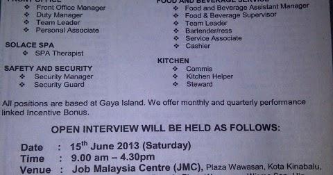 Bunga Raya Island Resort Vacancy