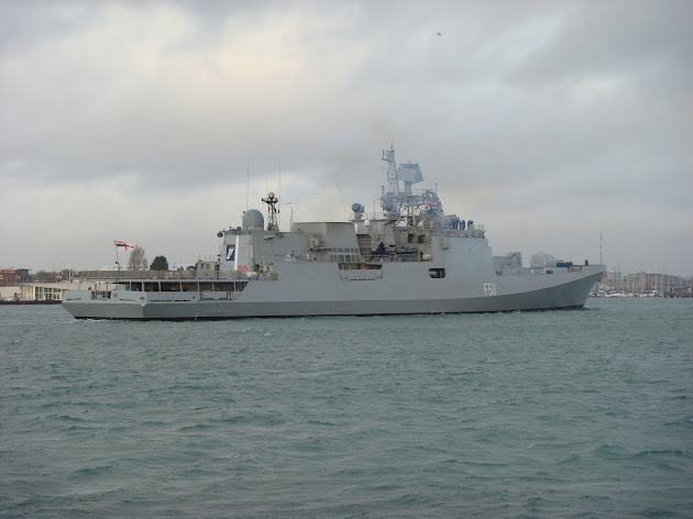 Guided-missile stealth frigate INS Trikand