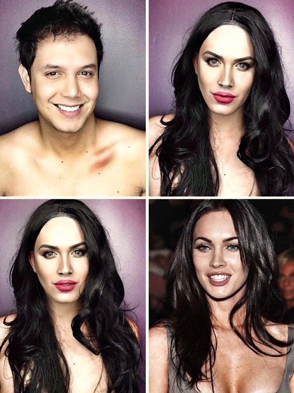 Ator se transforma em celebridades femininas