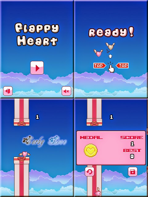 Flappy Heart 240 x 320 Touchscreen Mobile Java Game